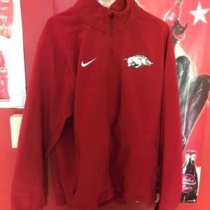 Stitched University of Arkansas Nike jacket